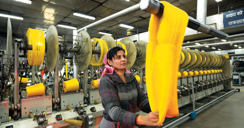 Textile exports from India